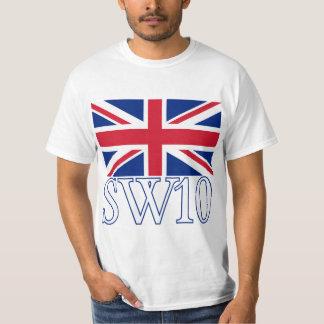 Prefijo postal SW10 de Londres con Union Jack Playeras