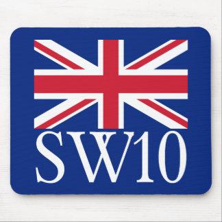 Prefijo postal SW10 de Londres con Union Jack Tapete De Raton