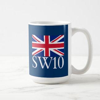 Prefijo postal SW10 de Londres con Union Jack Taza