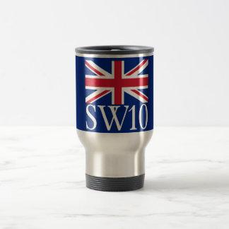 Prefijo postal SW10 de Londres con Union Jack Taza De Viaje