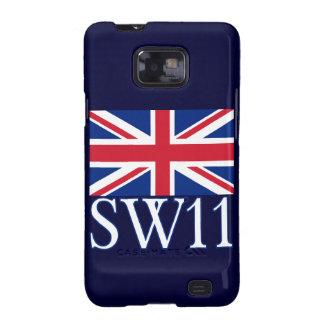 Prefijo postal SW11 de Londres con Union Jack Samsung Galaxy SII Carcasa