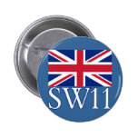 Prefijo postal SW11 de Londres con Union Jack Pin