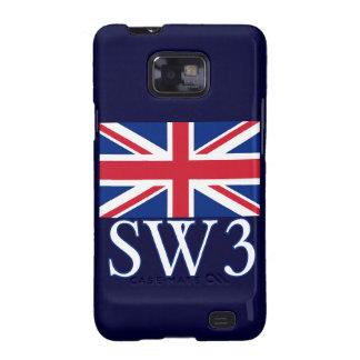 Prefijo postal SW3 de Londres con Union Jack Galaxy SII Carcasa