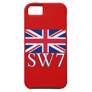 Prefijo postal SW7 de Londres con Union Jack iPhone 5 Carcasa