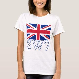 Prefijo postal SW7 de Londres con Union Jack Playera