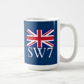 Prefijo postal SW7 de Londres con Union Jack Taza