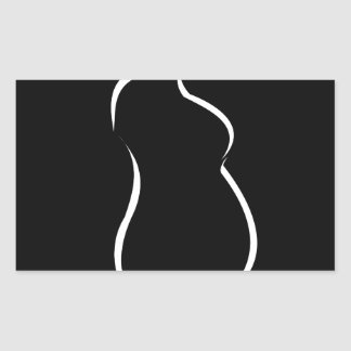 Pregnancy abstract drawing rectangular sticker