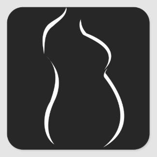 Pregnancy abstract drawing square sticker