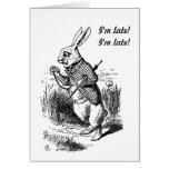 Pregnancy - Alice in Wonderland White Rabbit Card