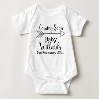 pregnancy annoucement baby bodysuit