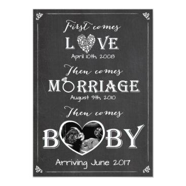 Anietillustration Pregnancy announcement card Love Marriage Baby