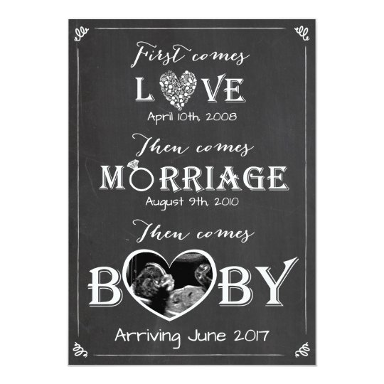 High Quality Pregnancy Announcement Card Love Marriage Baby Awesome Ideas