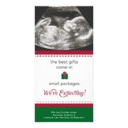 Pregnancy Announcement Christmas Card Photo Greeting Card