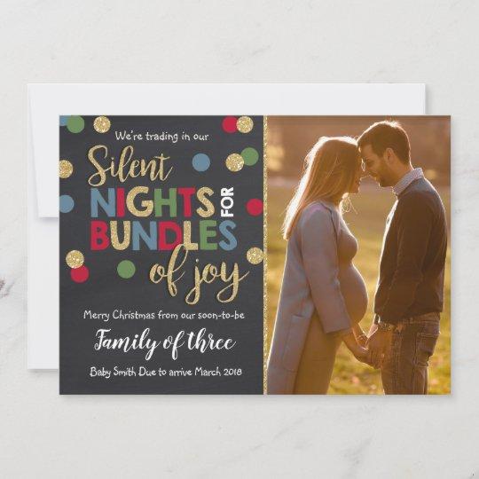 pregnancy announcement christmas photo card chalk - Pregnancy Announcement Christmas Card