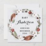 Pregnancy Announcement - Cotton Fall Wreath
