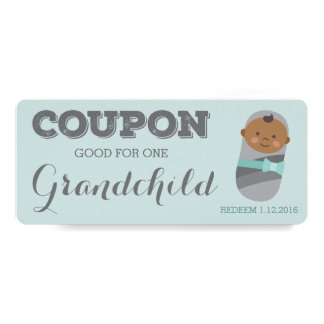 Pregnancy Announcement Coupon for Grandchild