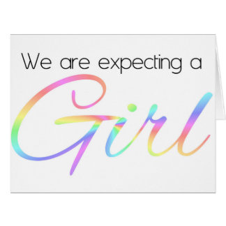 Pregnancy Announcement Gay/Lesbian Large Greeting Card