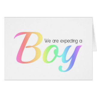 Pregnancy Announcement Gay/Lesbian Greeting Card