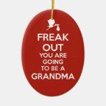 Pregnancy Announcement Grandma Ornament Christmas