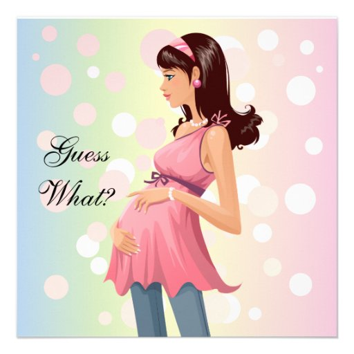 Pregnancy Announcement Invitation