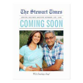 Pregnancy Announcement Postcard