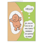 Pregnancy Announcement Stationery Note Card