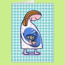 pregnancy baby boy card