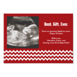 """Pregnancy Christmas Cards Ultrasound Announcements 5"""" X 7"""" Invitation Card"""