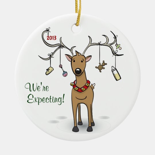Expecting Christmas Ornaments.Pregnancy Christmas Ornament Reindeer Expecting