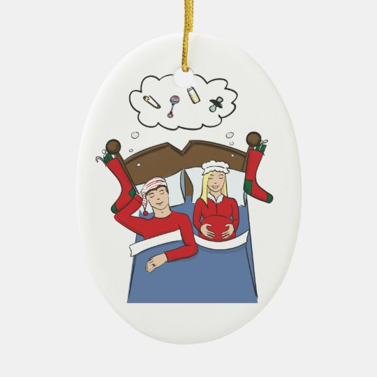 Pregnancy Christmas Ornament Silent Nights Blonde
