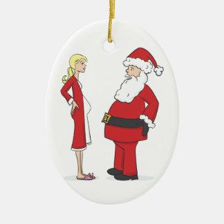 Pregnancy Christmas Ornaments - BLONDE Jelly Oval