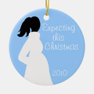 Pregnancy Christmas Pink Circle Ornament 2010