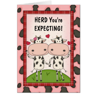 Pregnancy - Cows for Expectant Parents Cards