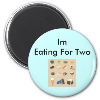 pregnancy excuses 2 inch round magnet