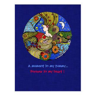 Pregnancy Illustration Postcard