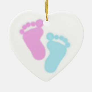 Pregnancy & Infant Loss Awareness Double-Sided Heart Ceramic Christmas Ornament