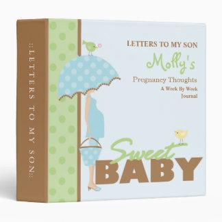 Pregnancy Journal - Boy Binder