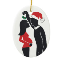 Pregnancy Ornament Mommy Kissing