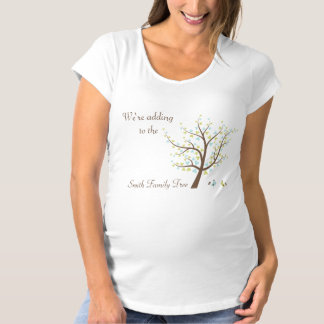 Pregnancy Reveal Adding to The Family Tree T-shirt