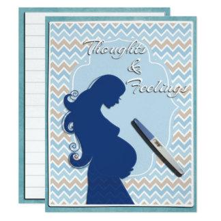 Pregnancy Scrapbook JOURNAL CARD