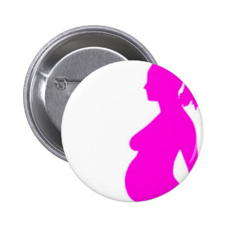 Pregnancy Silhouette Button