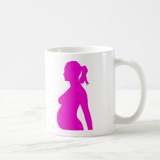 Pregnancy Silhouette Design Coffee Mug