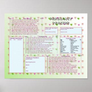Pregnancy Tracker Poster - Green