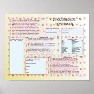 Pregnancy Tracker Poster - Peach