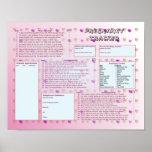 Pregnancy Tracker Poster - Pink