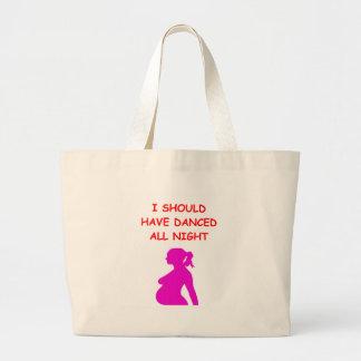 pregnant jumbo tote bag