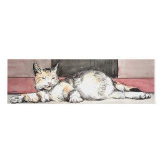 Pregnant cat panel wall art