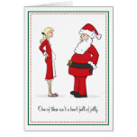 Pregnant Christmas Cards - BLONDE Bowl of Jelly