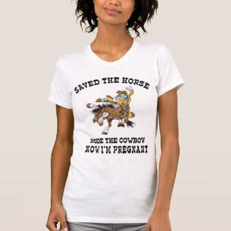 Pregnant Cowgirl Maternity T-Shirt T Shirt