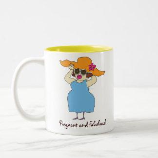 Pregnant & Fabulous Coffee Mug Two-Tone Mug